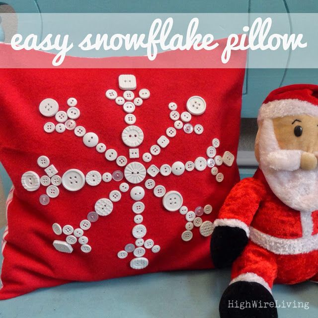 High Wire Living: button snowflake pillow