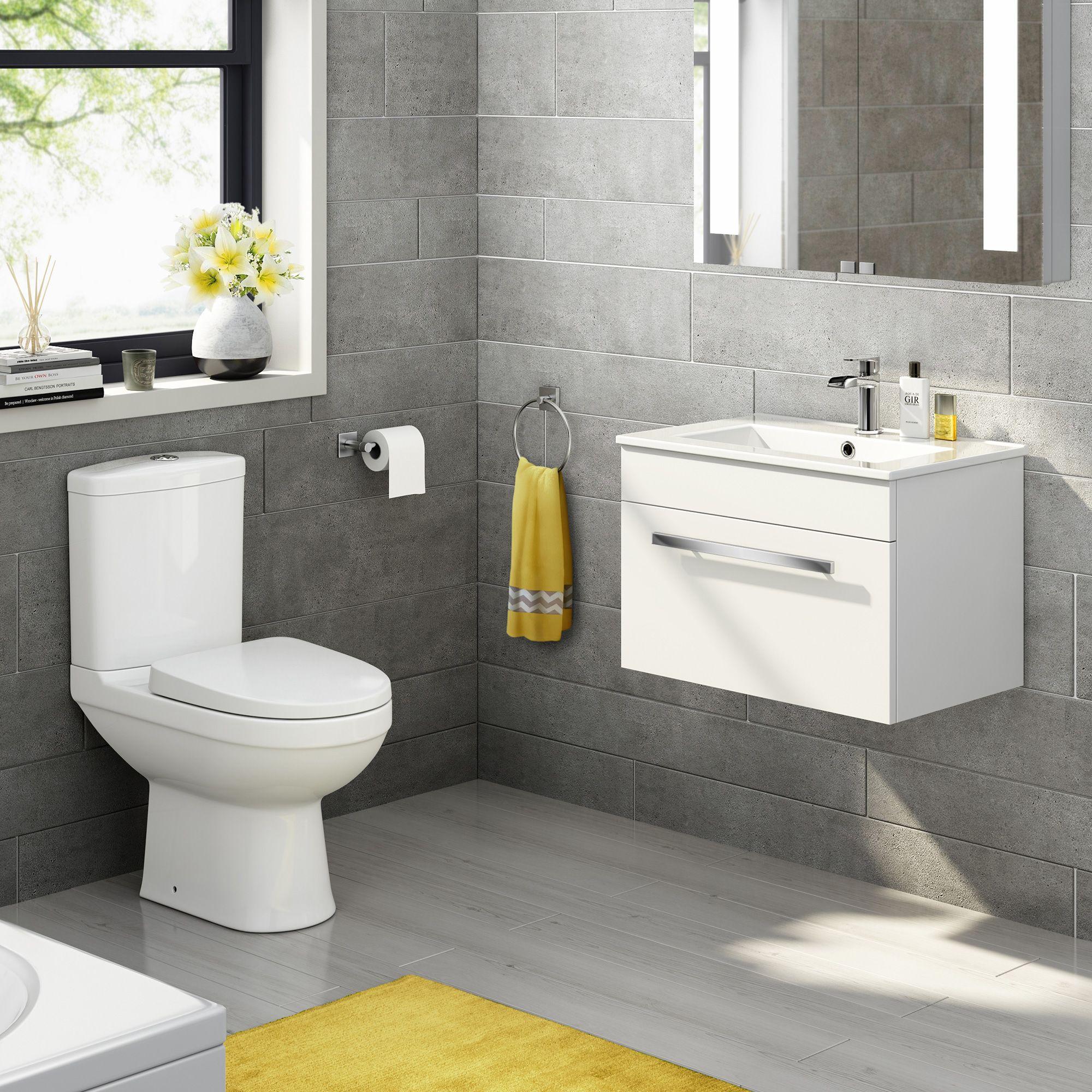 Designer Vanity Units For Bathroom Delectable 1048Mm Lyon Iii Pan Quartz Gloss White Combined Suite  Basin Inspiration Design