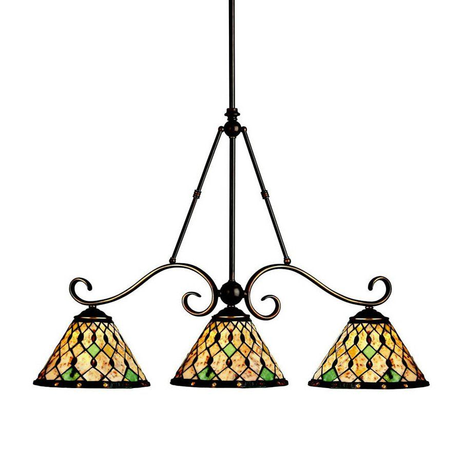 Kichler lighting 65274 3 light woodbury billiards island light oiled bronze lighting universe