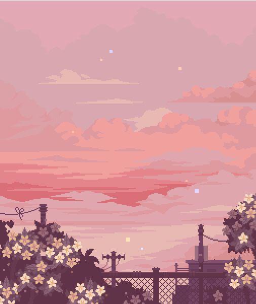 Freetoedit Kawaii Pink Aesthetic Cute Starterpack Sky Goldenhour Draw Paint Love Nosta Aesthetic Painting Scenery Wallpaper Anime Scenery Wallpaper