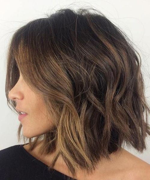Medium Length Bob Hairstyles Top Haircuts For Girls Viral Hairstyle Thick Hair Styles Hair Styles Messy Bob Hairstyles