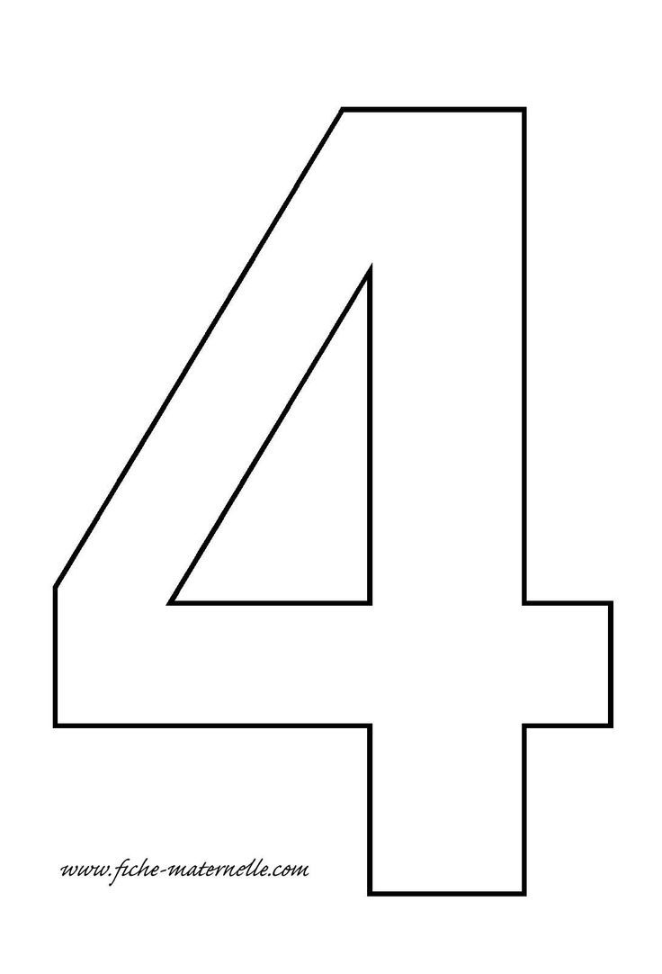 Soft image in printable number 4