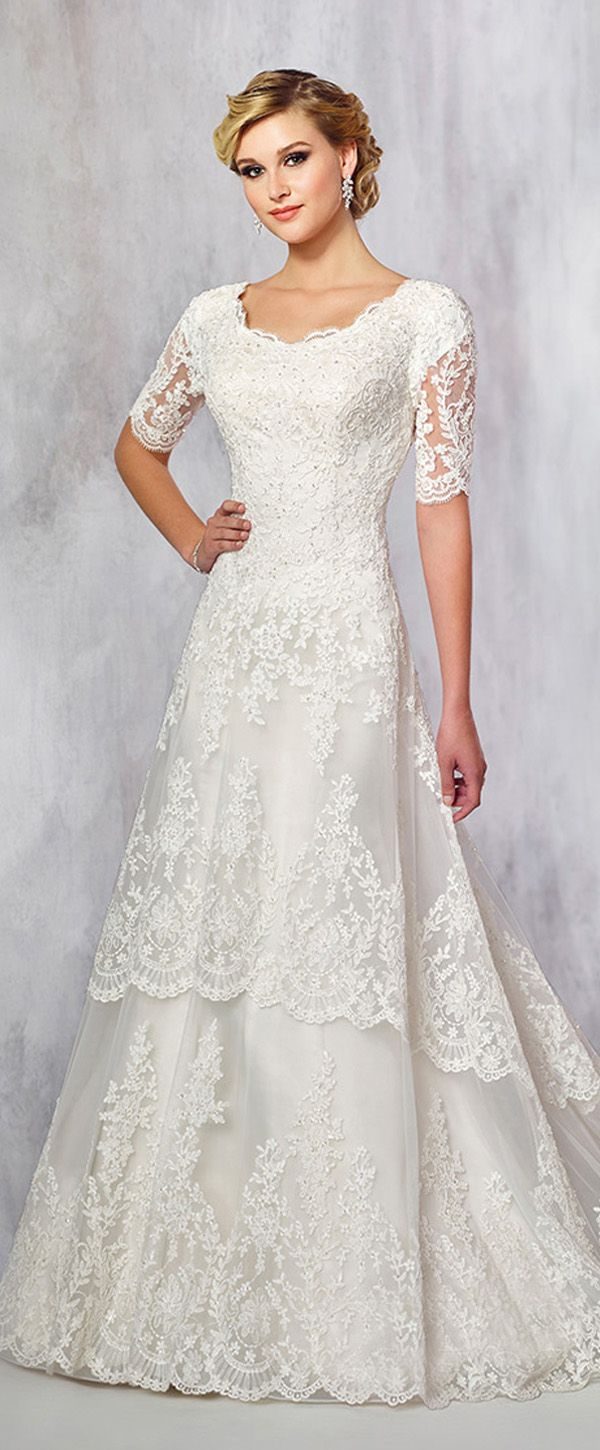 Lace dresses for wedding reception  Glamorous Tulle Scoop Neckline Aline Wedding Dresses With Lace