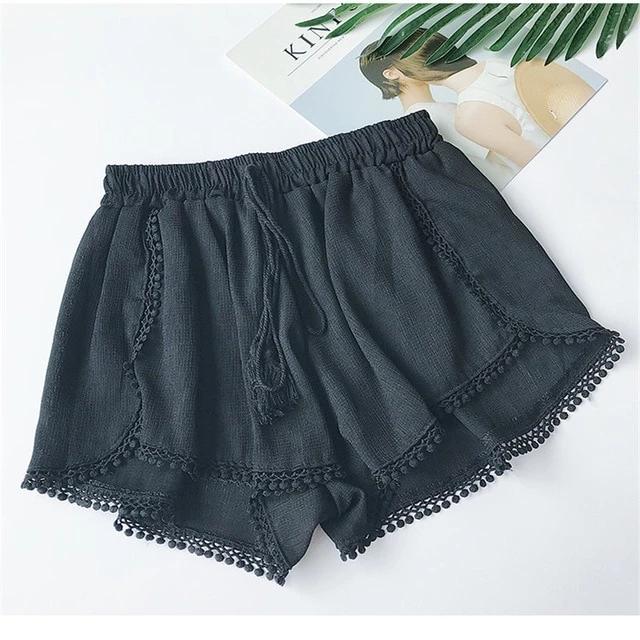 Vintage Elastic High Waist Chiffon Shorts