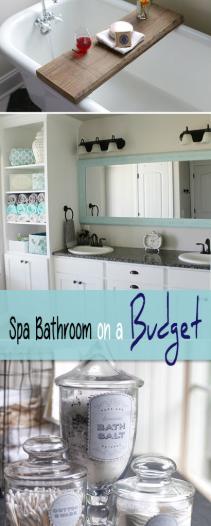 Diy Spa Bathroom On A Budget The Budget Decorator Bathroom Spa Budget Bathroom Spa Like Bathroom