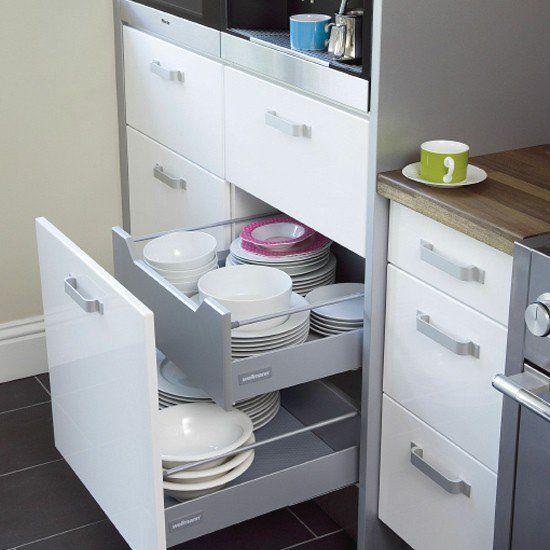Ideas para Ahorrar Espacio en cocinas pequeñas | Ideas | Pinterest ...