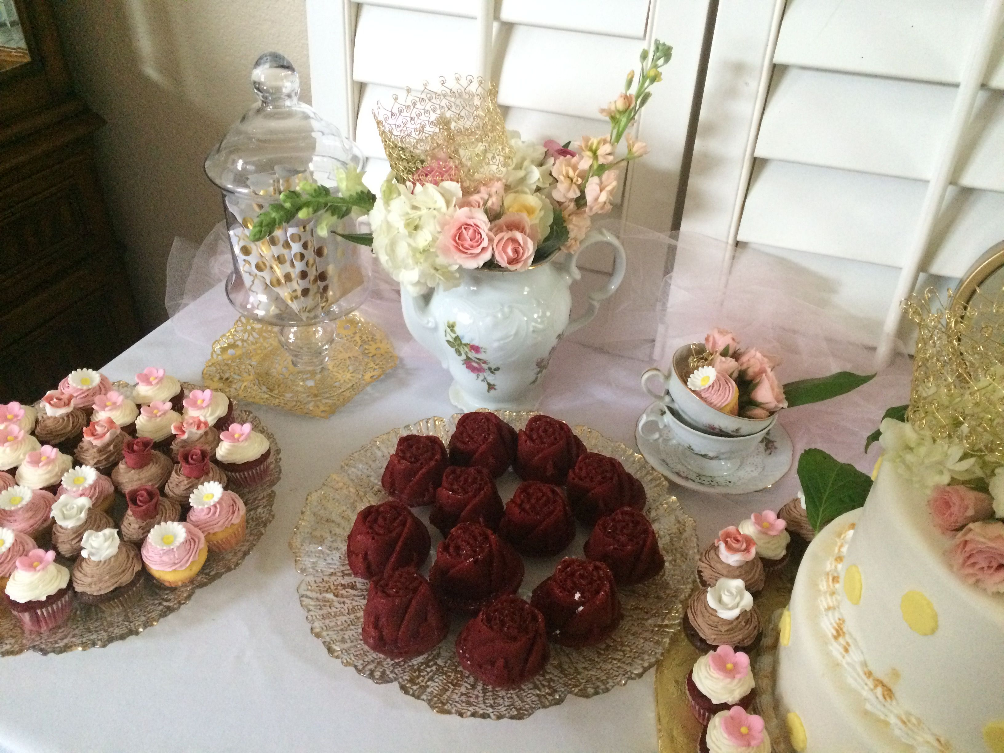 Princess Tea Party, Babyshower, Gold And Pink, Its A Girl,