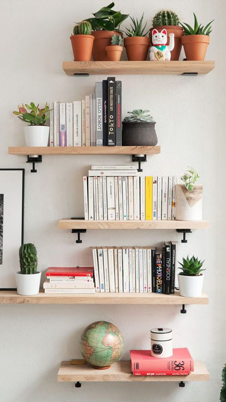 Storage Tips For Small Bedrooms Shelf Decor Bedroom Wall Shelves Design Interior Design Living Room