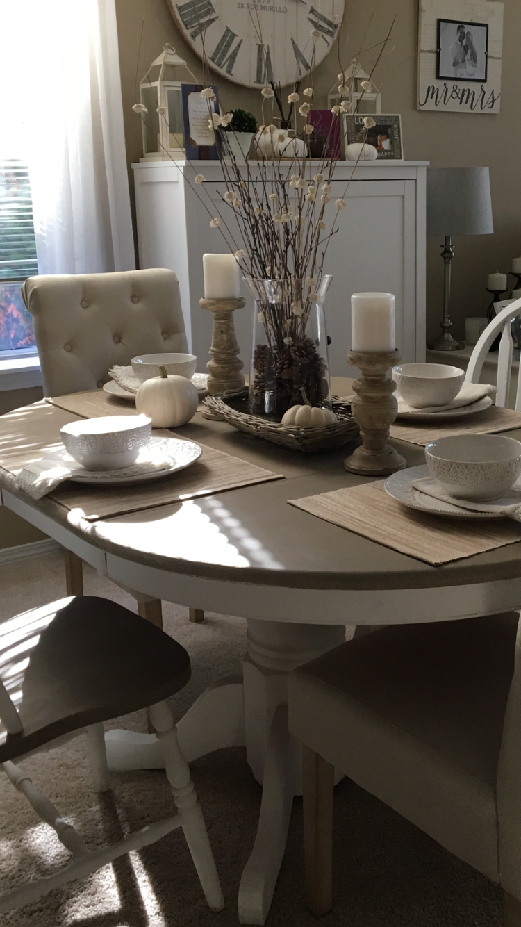 annie sloan chalk paint dinning room set used a base coat in white rh pinterest ca