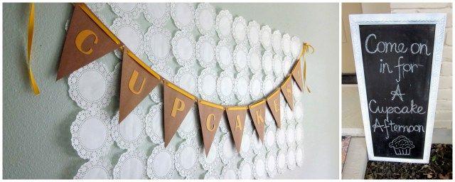 Cupcake signs