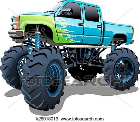 Cartoon Monster Truck Clip Art Suv Bilar Monster