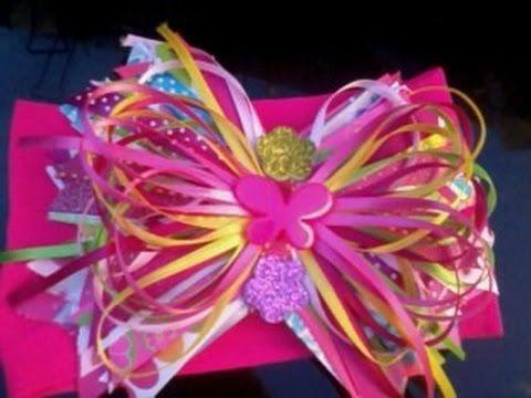 idea de moños redondos con cinta para el cabello.hair bows , YouTube