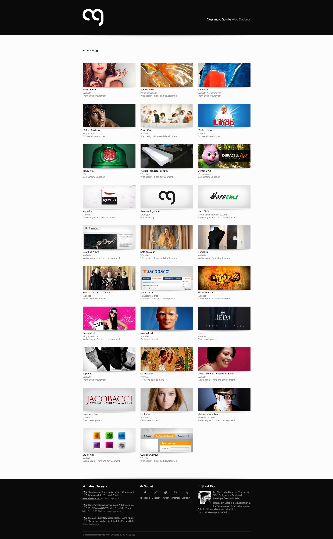 Alessandro Gomba Web Designer Portfolio Portfolio Web Design Web App Design Portfolio Design