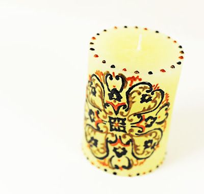 Use Viva Pearl Pens to Custom Design a Candle.