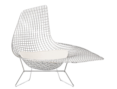 Bertoia Asymmetric Chaise With Seat Pad Seating Furniture Seat Pads