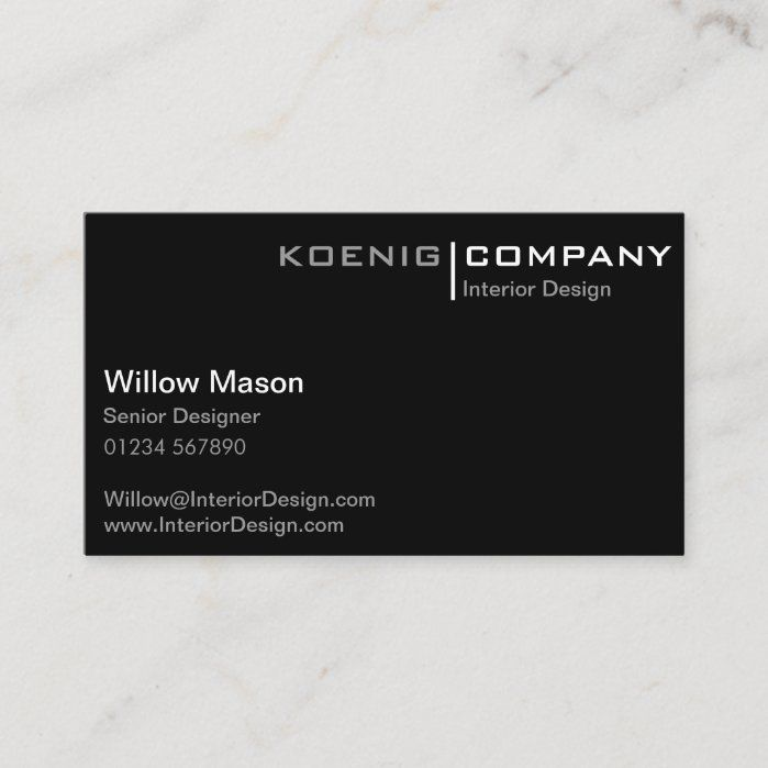 Black And White Minimalistic Business Card Zazzle Com Minimalist Business Cards Business Cards Business Cards Simple
