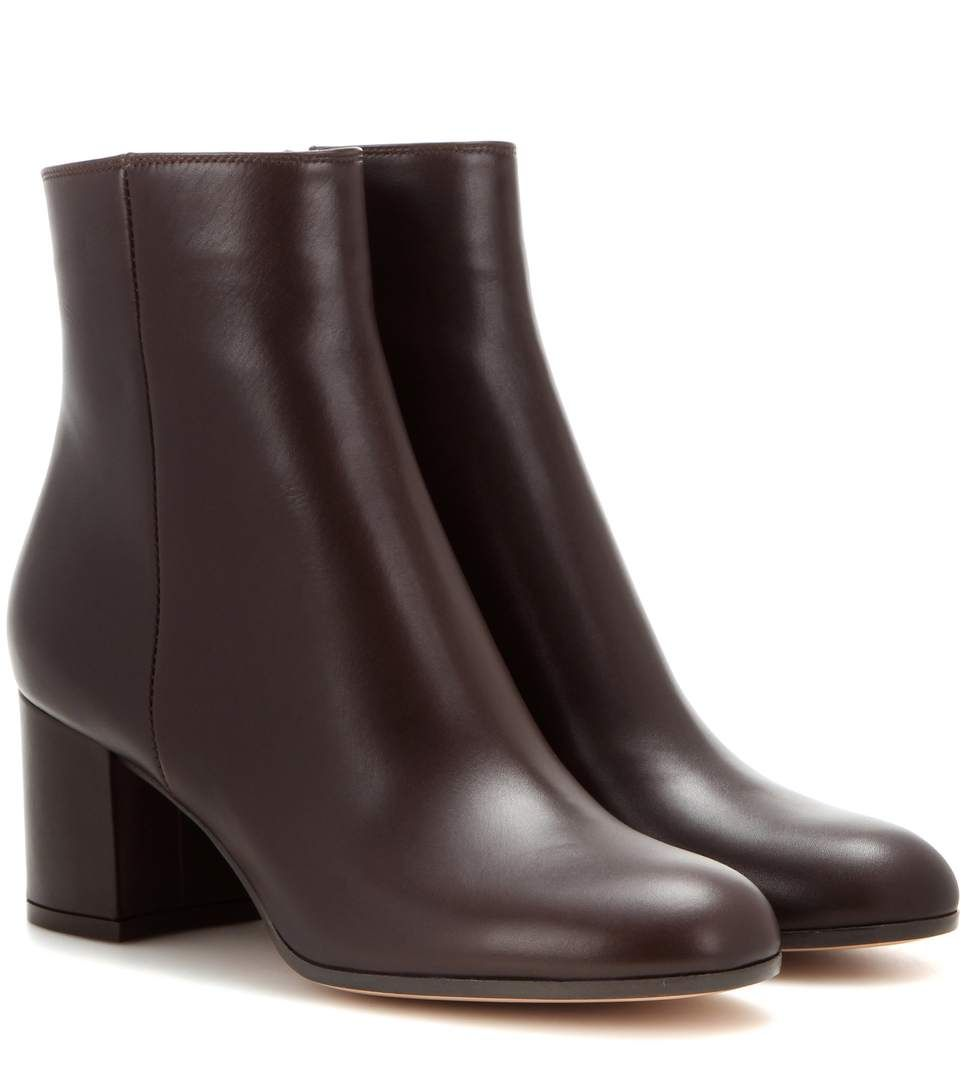 4928458a8 GIANVITO ROSSI Margaux Mid Leather Ankle Boots.  gianvitorossi  shoes  boots