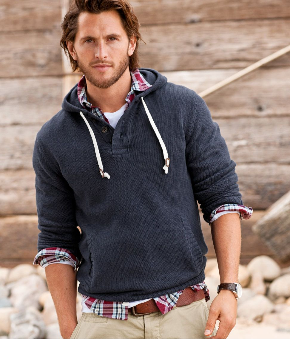 Button Up Under Hoodie Love That Crisp White Tee Mens Wear