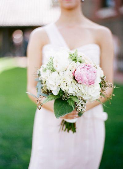 pink + white peony bouquet | Graham Terhune