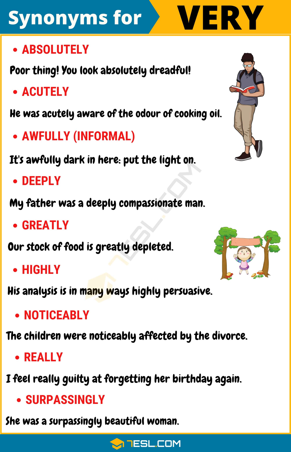 Another Word For Very List Of 105 Useful Synonyms For Very 7esl English Vocabulary Words Good Vocabulary Words Good Vocabulary