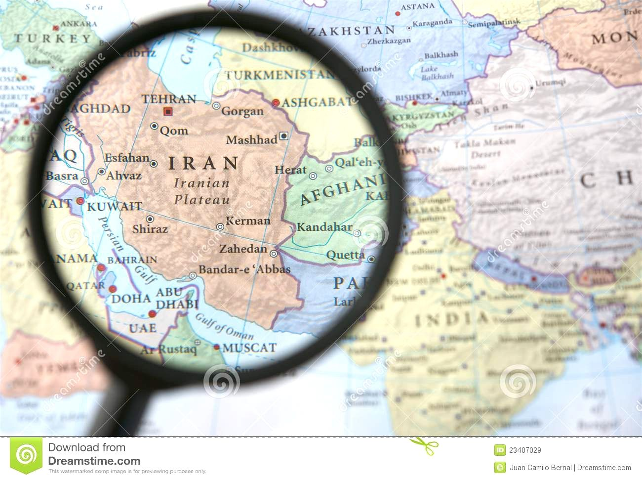 Iran And Afghanistan On A Map Royalty