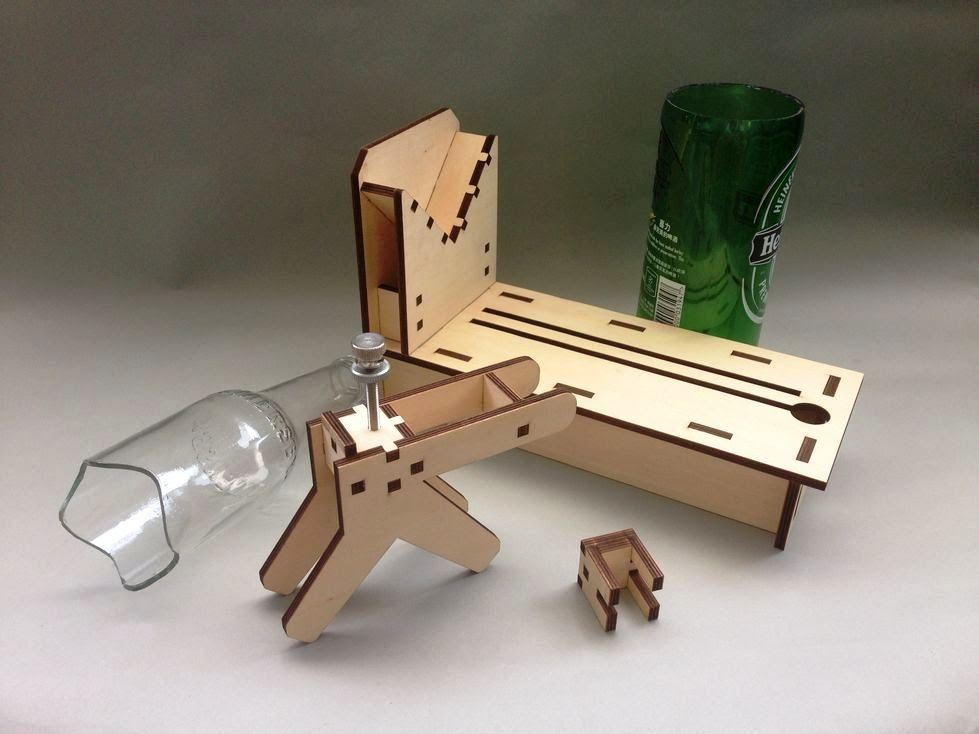 New version luca bottle cutter cut bottles to any shape for Glass bottle cutting ideas