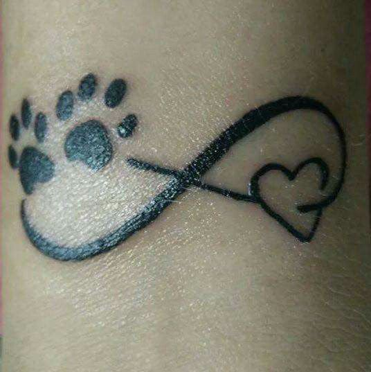Memorial Tattoo Infinity Paw Print: Tattoo In Memory Of My Dog