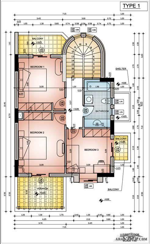 65 Beautiful House Design Apps For Ipad: مخطط فيلا صغيرة المساحه + البلانات (المبانى للدور الارضى