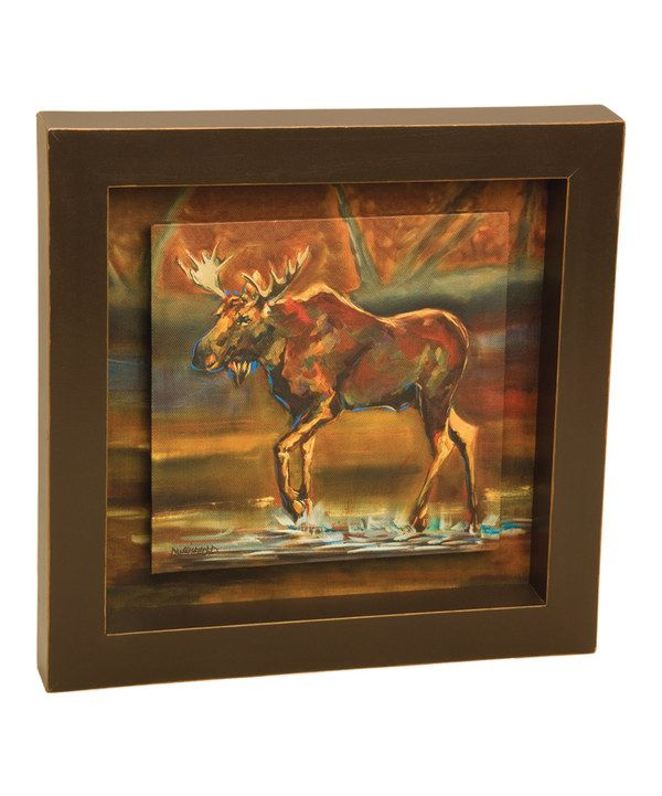 Look at this Moose Shadow Box Wall Art on #zulily today!