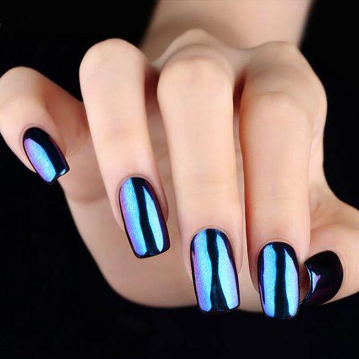 mirror effect nail glitter powder, shinning chrome nail powder ...