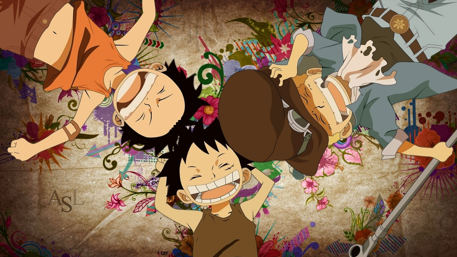 One Piece Luffy And Ace And Sabo Wallpaper 871 Frenzia Com Anime One Piece