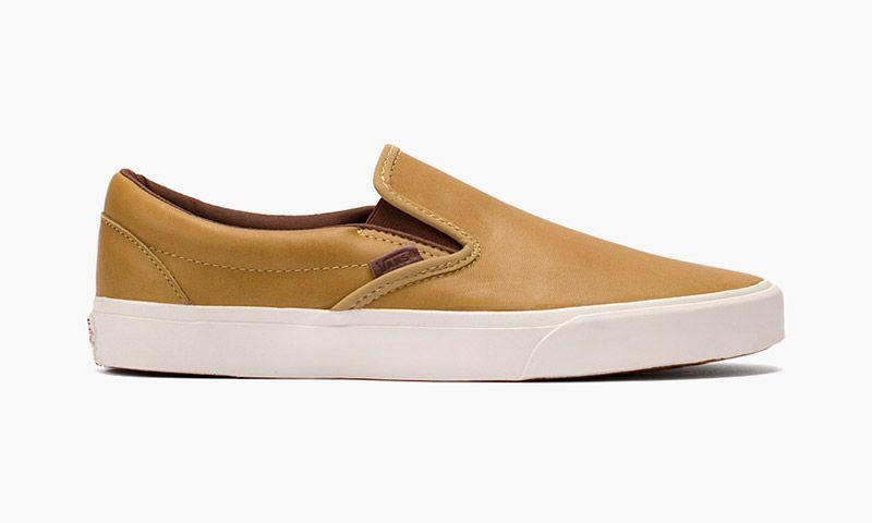 "923561a4e0ebff Vans Classic Slip-On ""Veggie Leather"" Pack Leather Vans"
