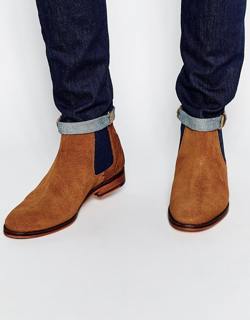 f9ca449885727 Image 1 of Ted Baker Camroon Suede Chelsea Boots