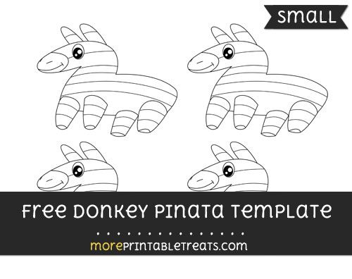 free donkey pinata template small shapes and templates
