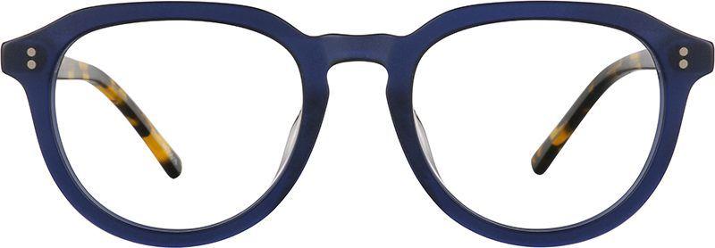 a0e146b222 Zenni Round Prescription Eyeglasses Blue Tortoiseshell Plastic ...