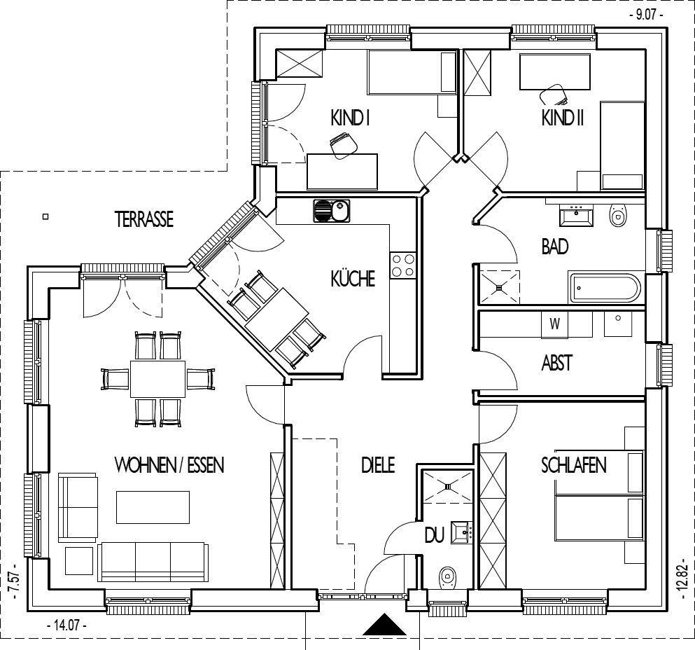 best grundriss bungalow 140 qm gallery. Black Bedroom Furniture Sets. Home Design Ideas