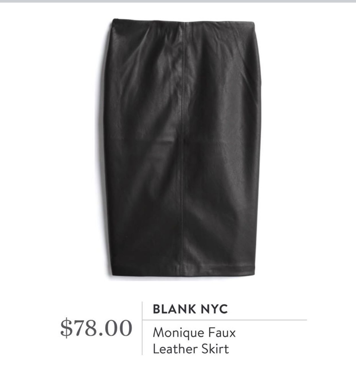 My First Fashom Box My Experience Review My Favorite Hello Blog Stitch Fix Skirt Stitch Fix Outfits Faux Leather Skirt [ 1303 x 1242 Pixel ]