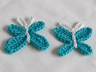 Gehäkelte Schmetterling Applikation Eine Kostenlose Anleitung