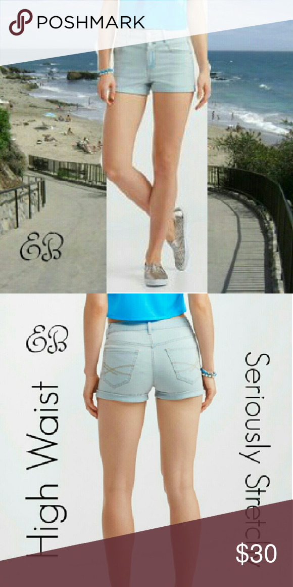 Aeropostale High Waist Denim Shorts Size 16 NWT