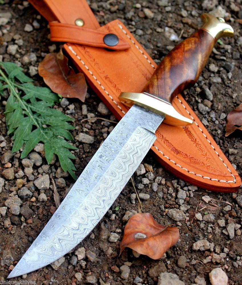 Exclusively crafted Damascus Steel Bowie Knife available at Damascus ...