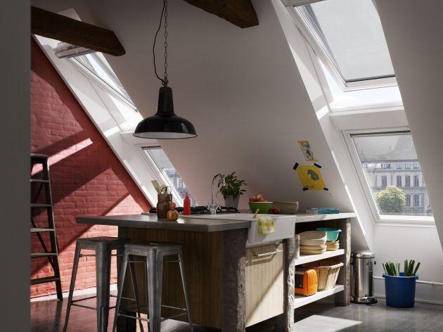 Esszimmer Einrichten In Dachgeschosswohnung * Fenster In Schrägdach *  Inspirationen Zu Dachgeschosswohnungen Von Velux * Dachausbau