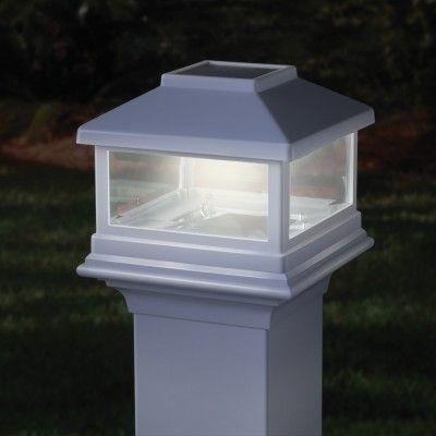 4x4 Square Solar Post Cap For Alx Pro Aluminum Railing Deckorators Solar Post Caps Post Lights Backyard Solar Lights