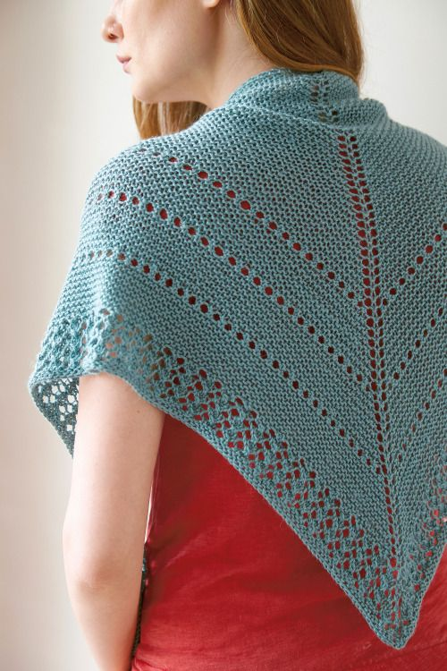 How To Basic Top Down Double Triangle Shawl Knitted