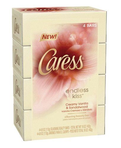 Caress Beauty Bar Soap, Endless Kiss, 4 Count by Caress. $3.99. A silkening and indulgent bar soap. Made in the USA. Leaves your skin feeling soft and silky. Infused with vanilla and sandalwood. If you want to indulge yourself every day, start your day with caress endless kiss beauty bar, infused with the scent of creamy vanilla and sandalwood. It will transform your daily shower into an everyday treat and leave your skin feeling soft and silky.. Save 33%!