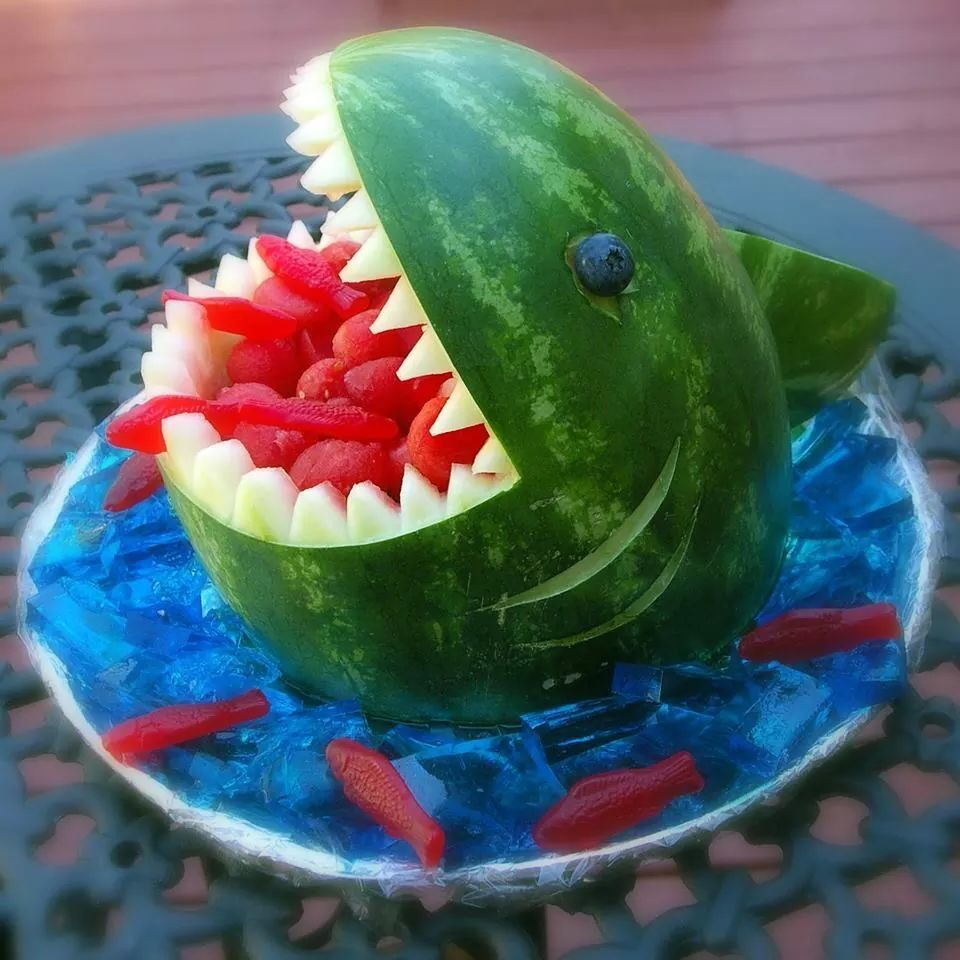 Shark shark food art pinterest shark shark food art and food