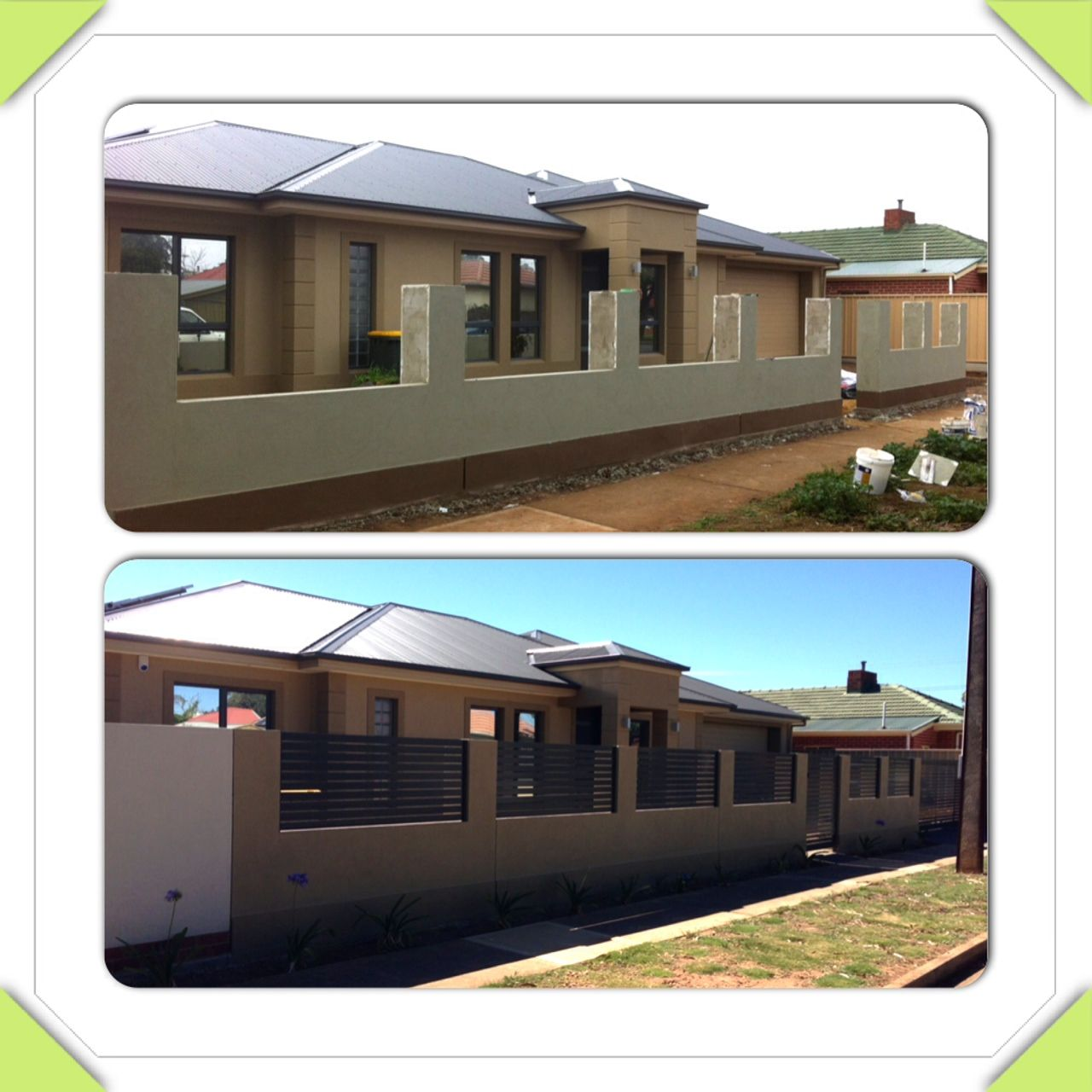 Front fence rendering fence pinterest valla verjas y cuartos grises - Cornicione casa ...