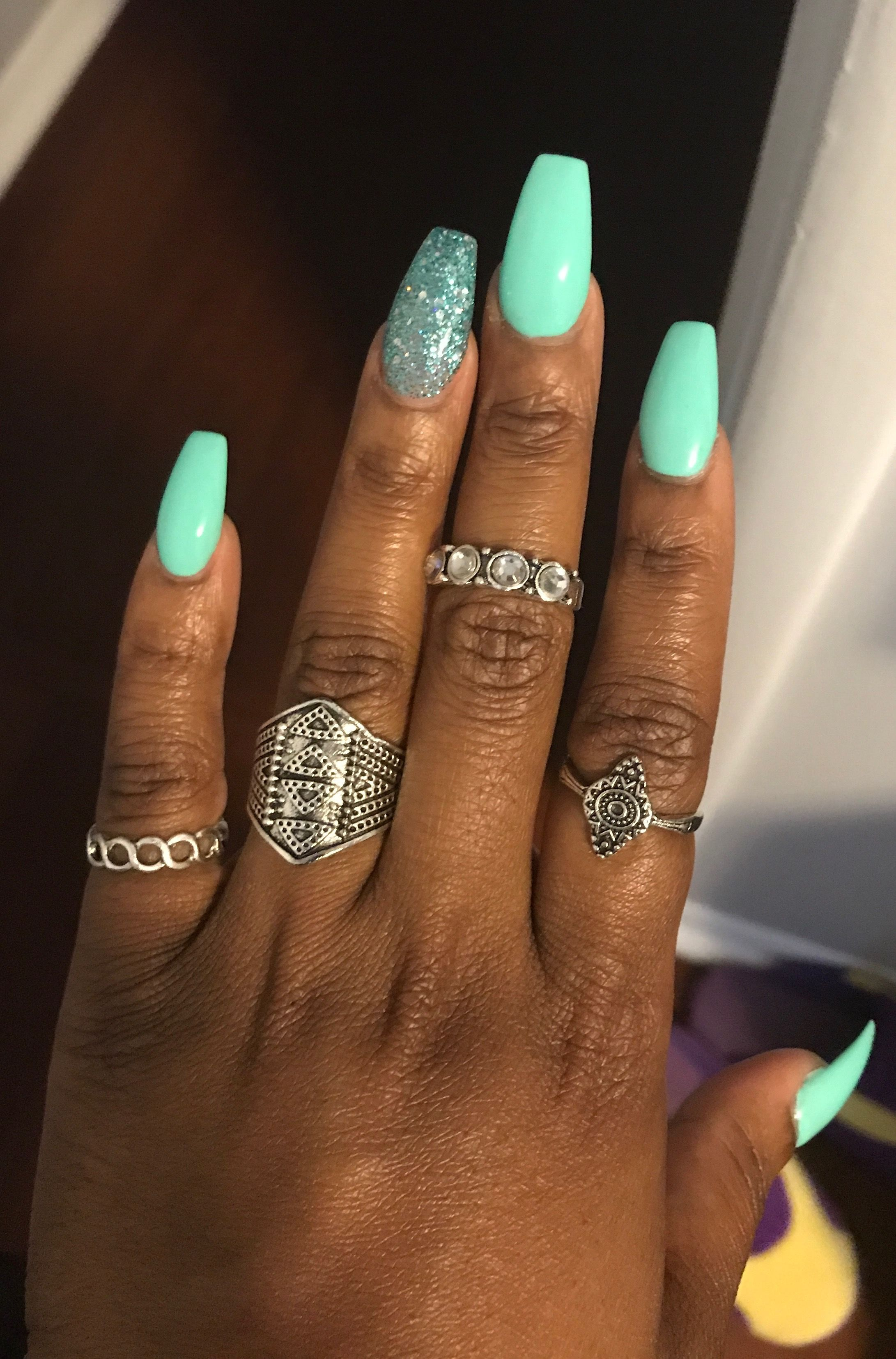 Mint Green Mint Nail Designs Mint Nails Green Nail Art