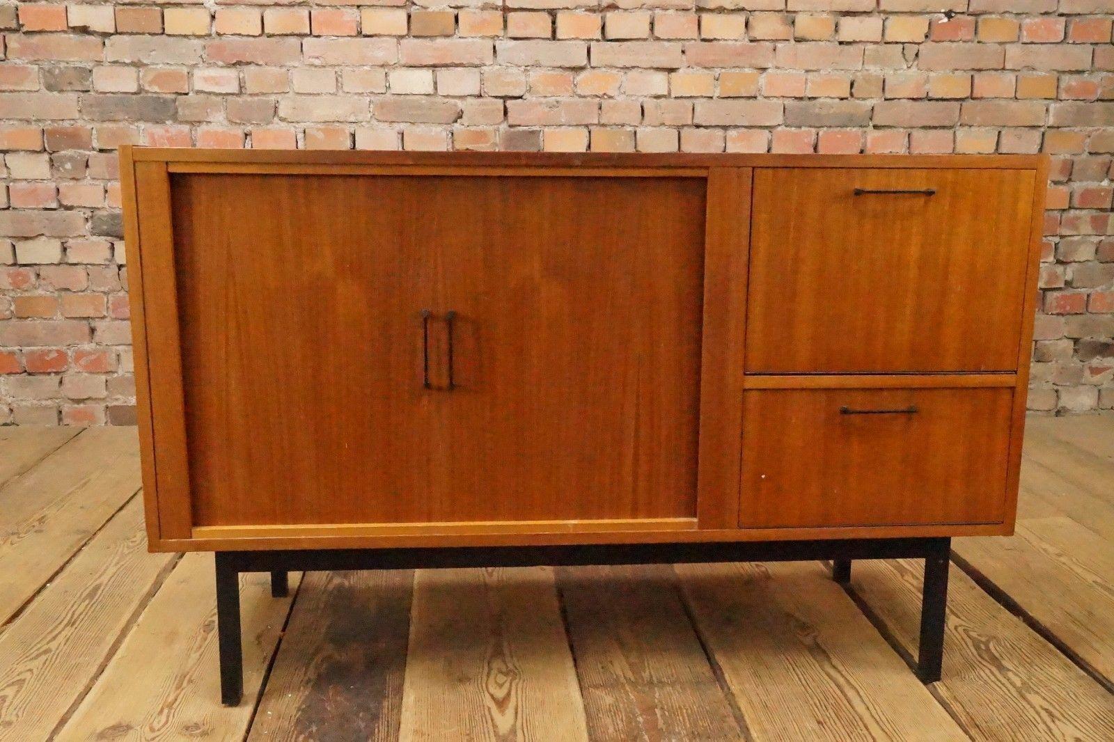 60er Danish Teak Sideboard Credenza Anrichte Kommode Mid Century Vintage 60s 2 Side Board Teak Und Teak Holz