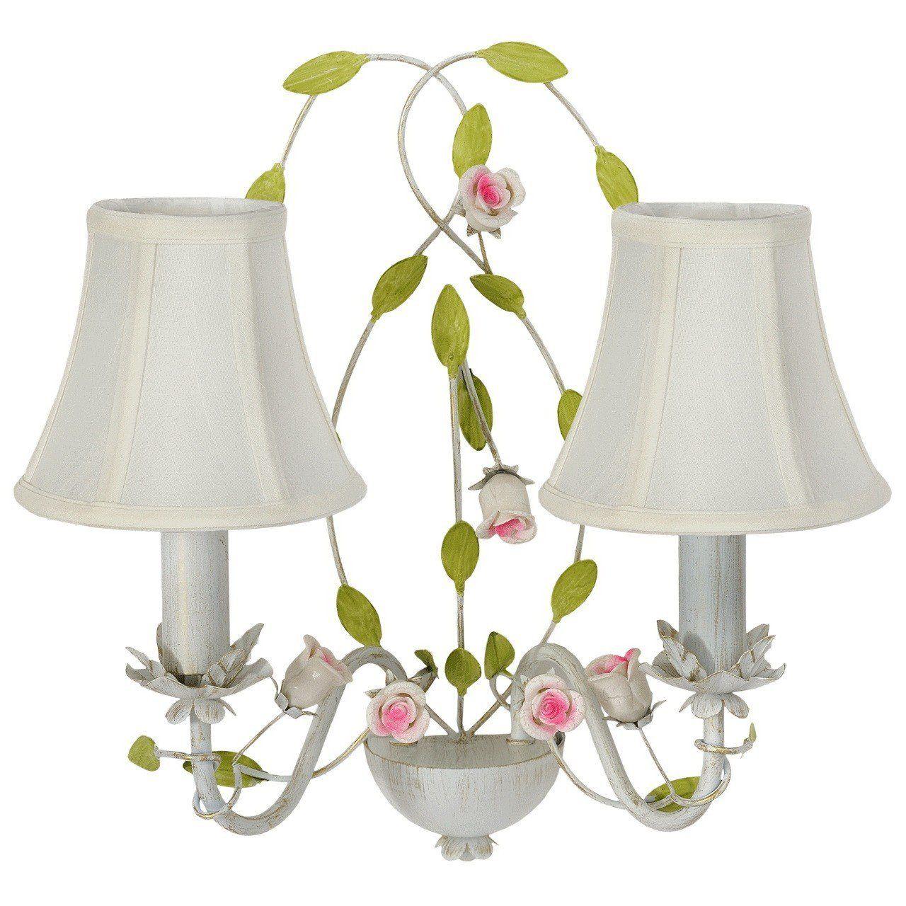 Applique elegante classico paralume bianco tessuto ceramica 2-bulb exl, E14 2x40W 230V: Amazon ...