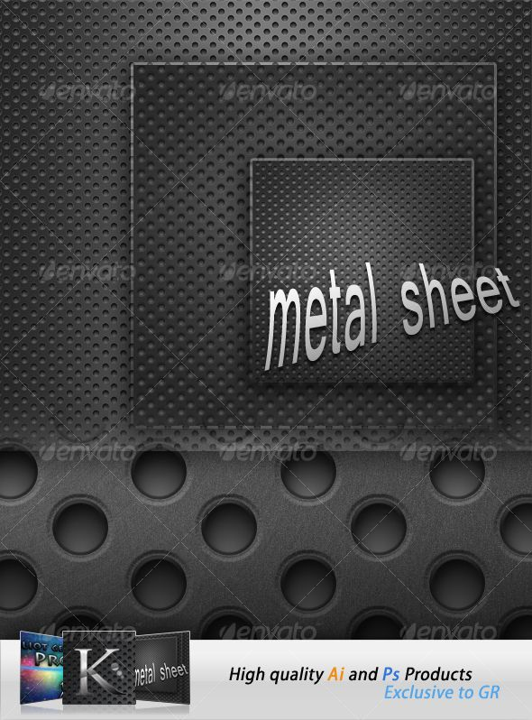 Metal Sheets | Fonts-logos-icons | Futuristic background